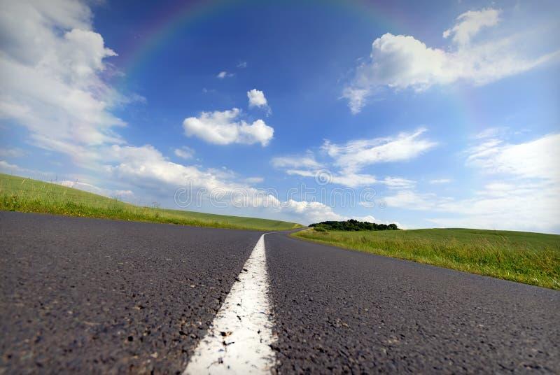 Route d'arc-en-ciel images libres de droits