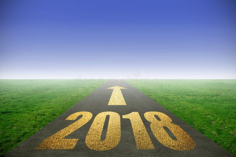 route 2018 d'or au succès illustration libre de droits