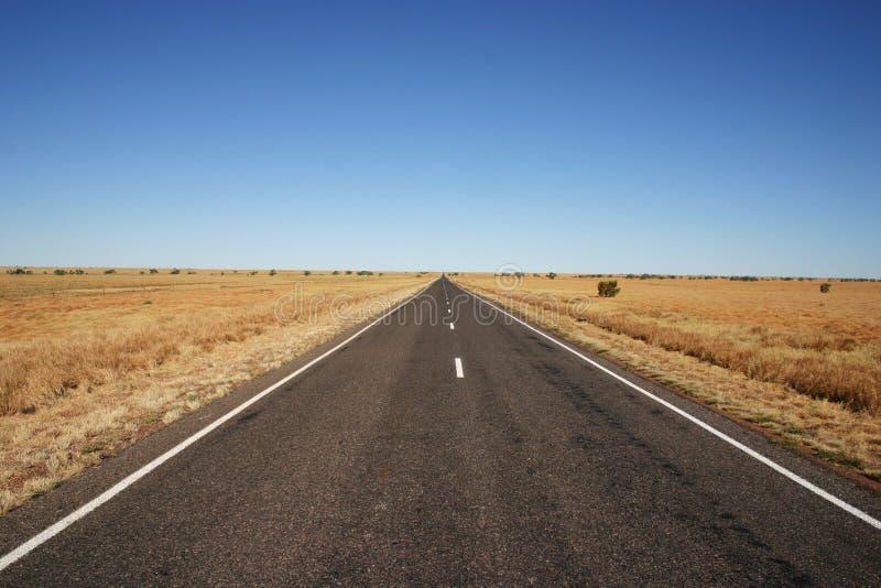 Route d'Australien à l'intérieur, Queensland image stock