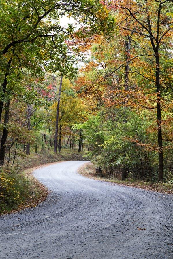 Route d'enroulement colorée vibrante image libre de droits