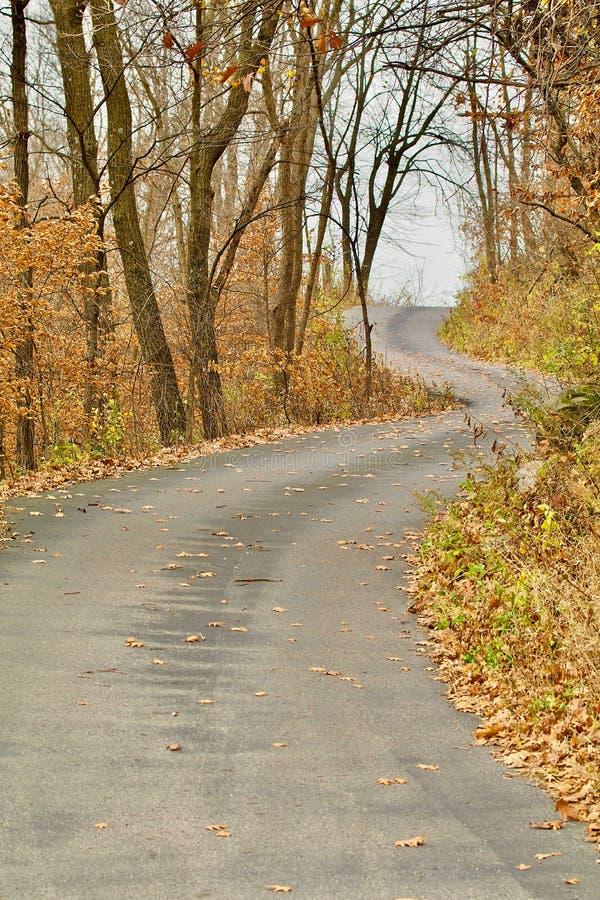 Route d'enroulement vers le haut de la colline image libre de droits