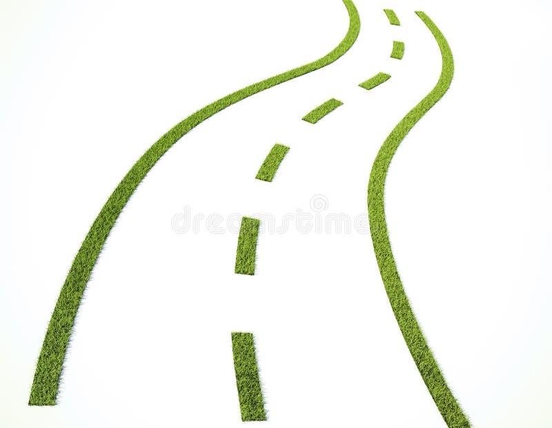 Route d'herbe illustration de vecteur