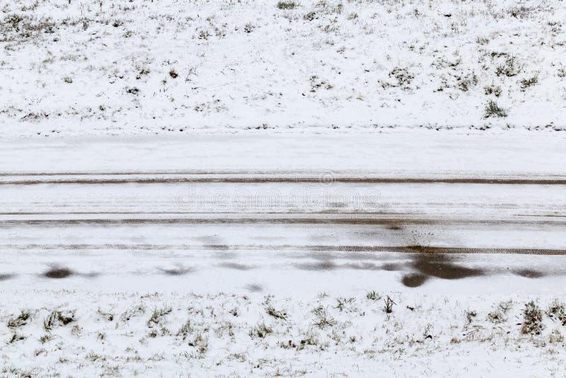 Route d'hiver de Milou image libre de droits