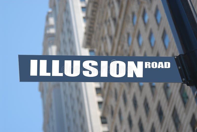 Route d'illusion images libres de droits