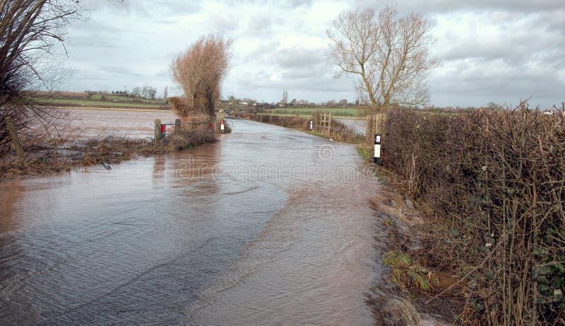 Route d'inondation photo stock
