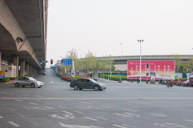 Route dans la ville photos libres de droits