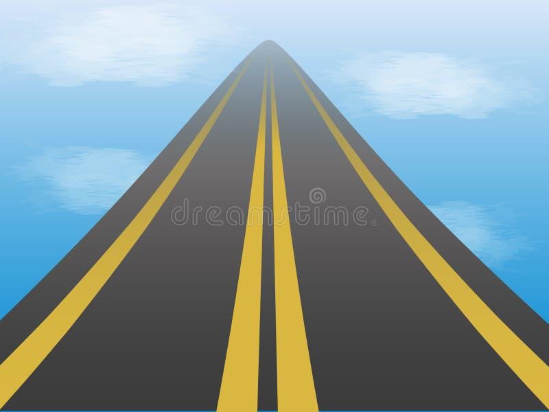 Route dans le ciel illustration de vecteur