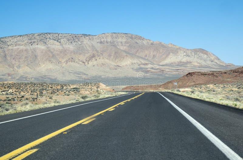 Route dans le désert #2 de l'Arizona images stock