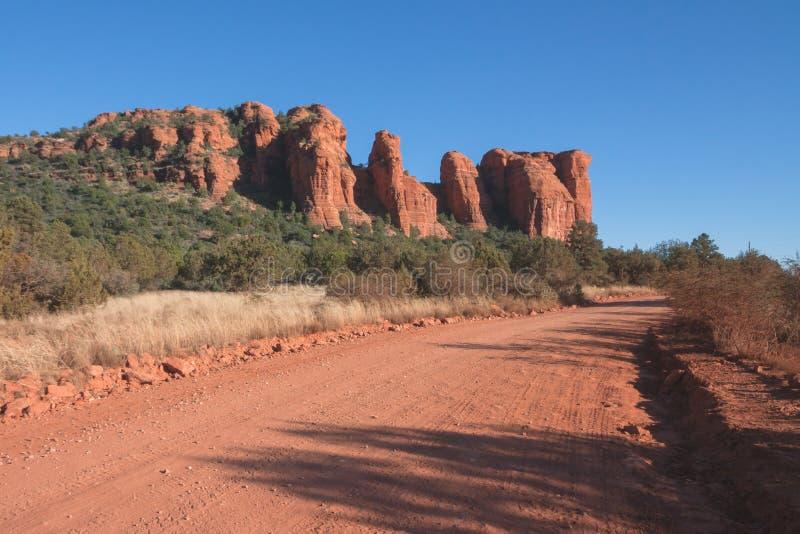 Route dans le désert rouge de Sedona photo stock