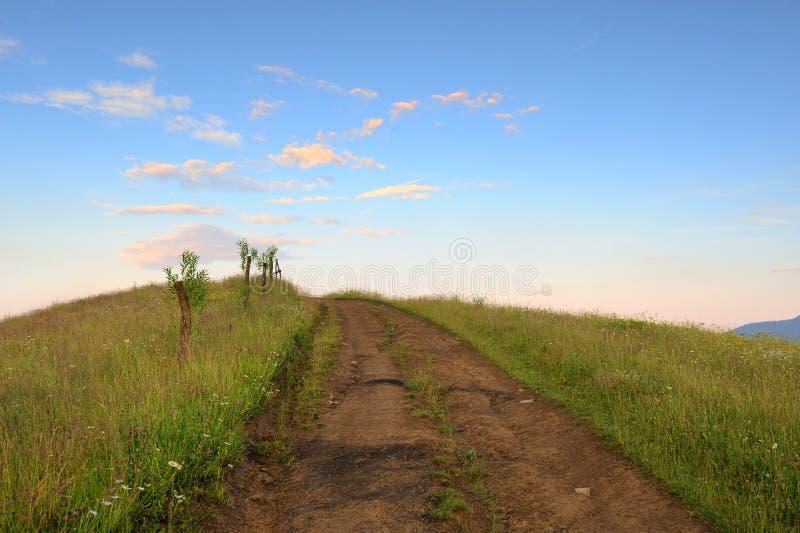 Route dans le domaine photographie stock