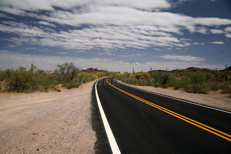 Route dans le monument national de pipe d'organe photographie stock