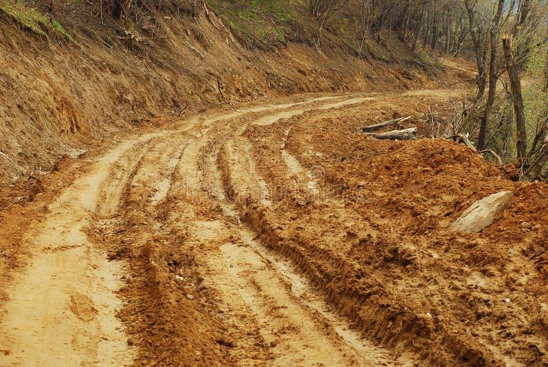 Route de boue photographie stock libre de droits