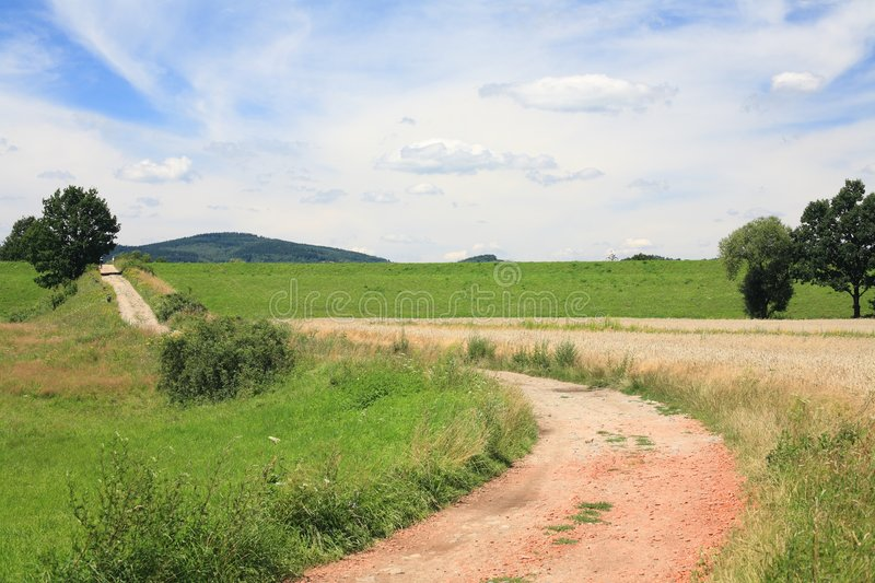 Route de campagne images stock