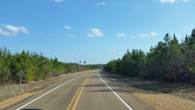 Route de campagne de l'Arkansas photo stock