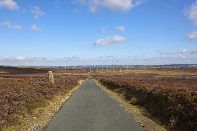 Route de campagne de Moorland photo stock