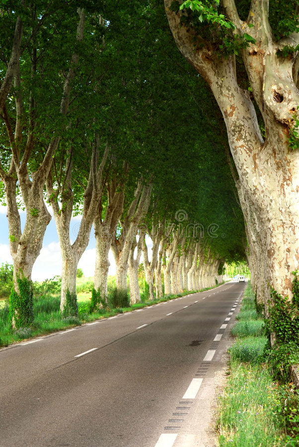 Route de campagne française photos stock