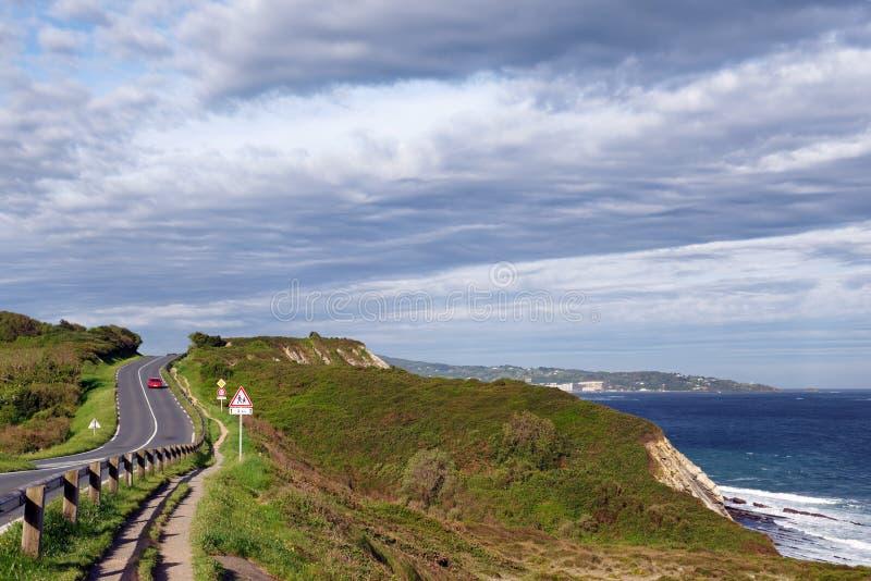 Route de corniche d'Urrugne photos stock