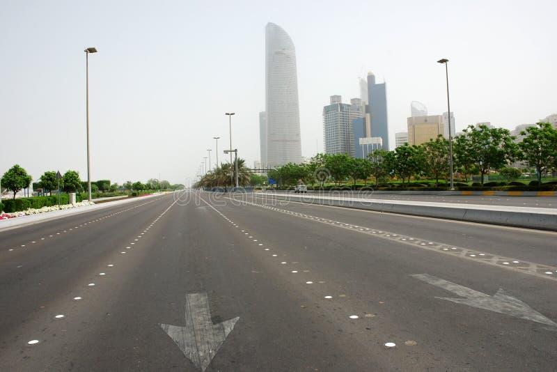 Route de Corniche en Abu Dhabi photos stock