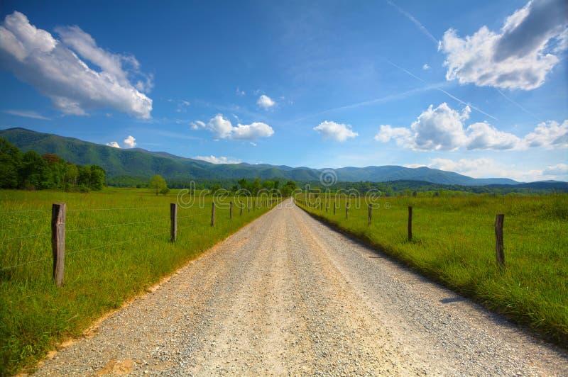 Route de crique de Cades photos stock