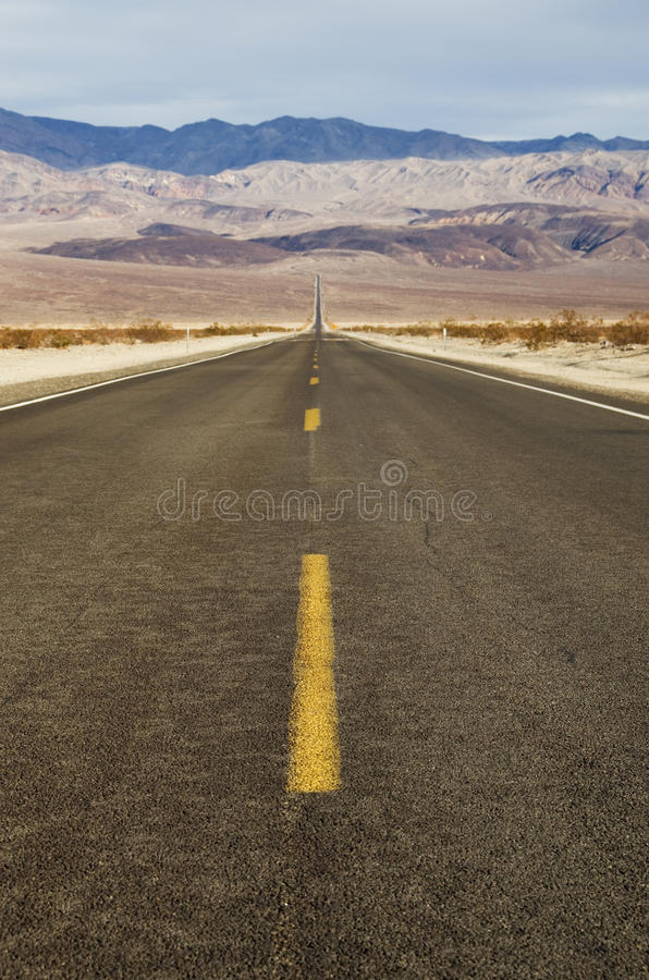 Route de désert photo stock