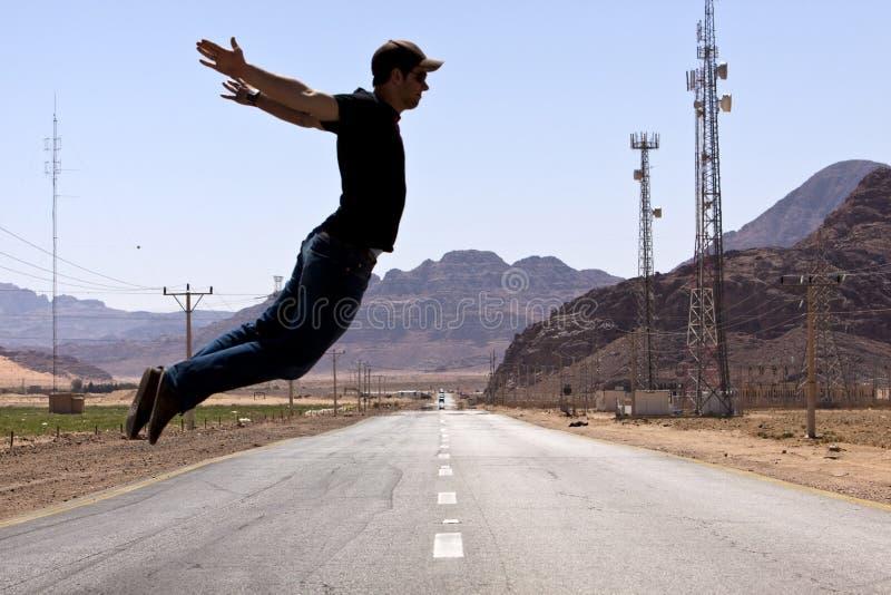 Route de désert - scène branchante image stock