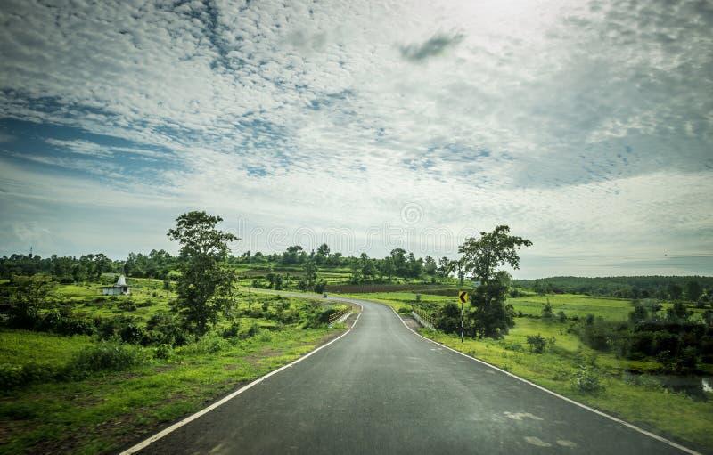 Route de disparaition photographie stock