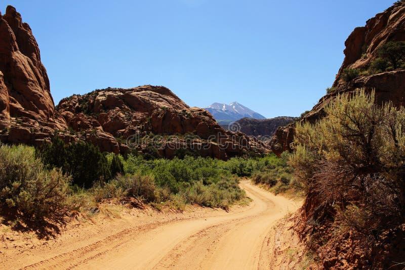 Route de dos de Moab photographie stock