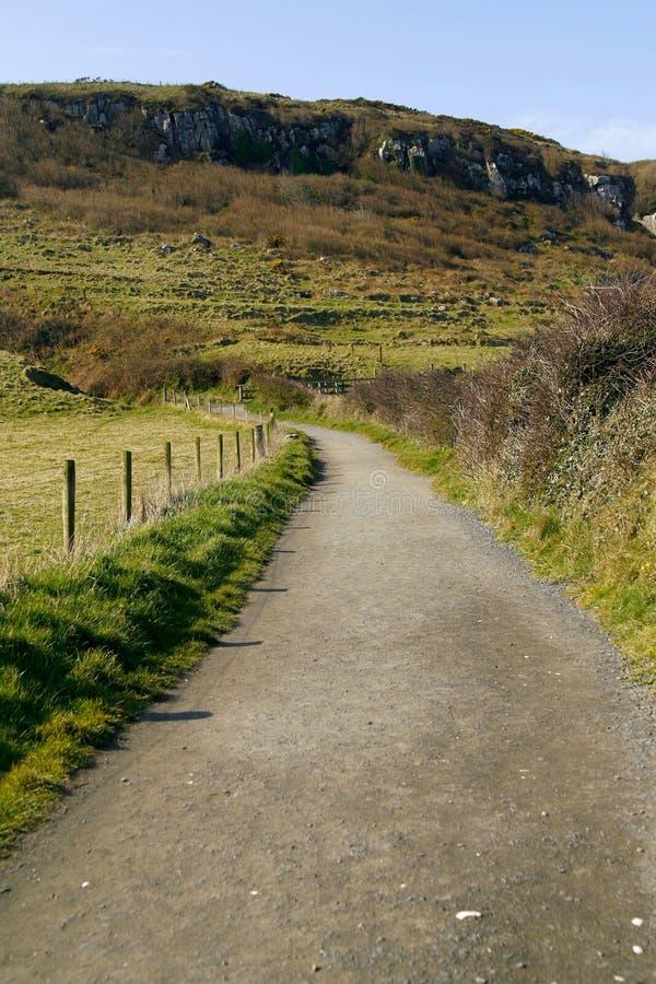 route de flanc de coteau dans antrim irlande du nord. Black Bedroom Furniture Sets. Home Design Ideas