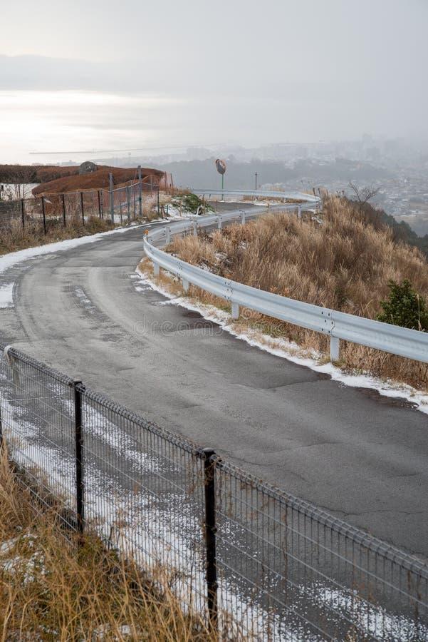 Route de flanc de montagne de Milou photo stock