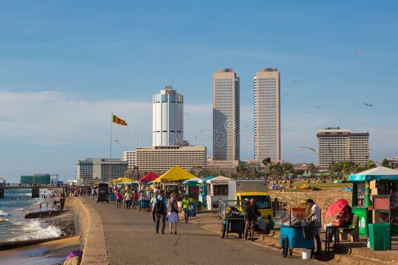 Route de fort de Colombo Galle photographie stock libre de droits