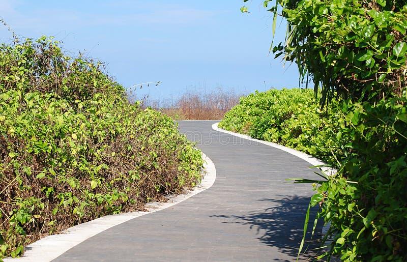 Route de jardin à DUA Bali de Nusa photographie stock libre de droits