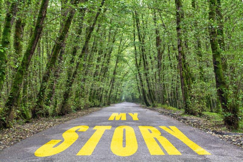 Route de jungle à mon histoire photos libres de droits