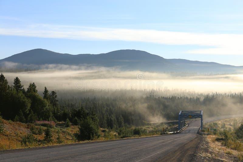 Route de l'Alaska, le Yukon photographie stock libre de droits