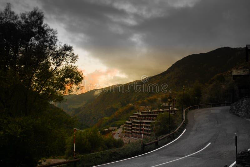 Route de l'Andorre photos stock