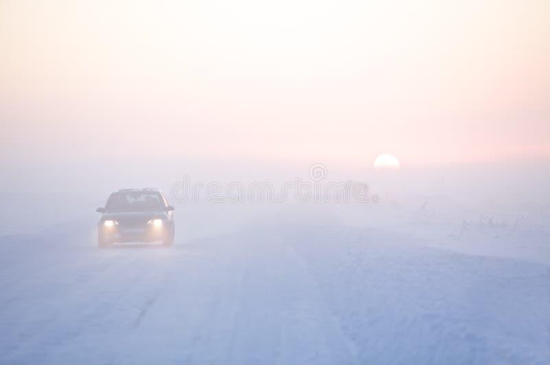 Route de l'hiver photo stock