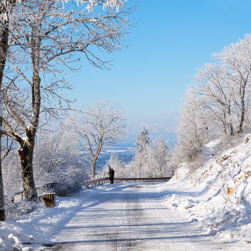 Route de l'hiver, Allemagne photos stock