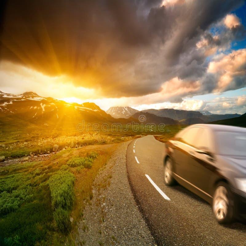 Route de la Norvège photo libre de droits