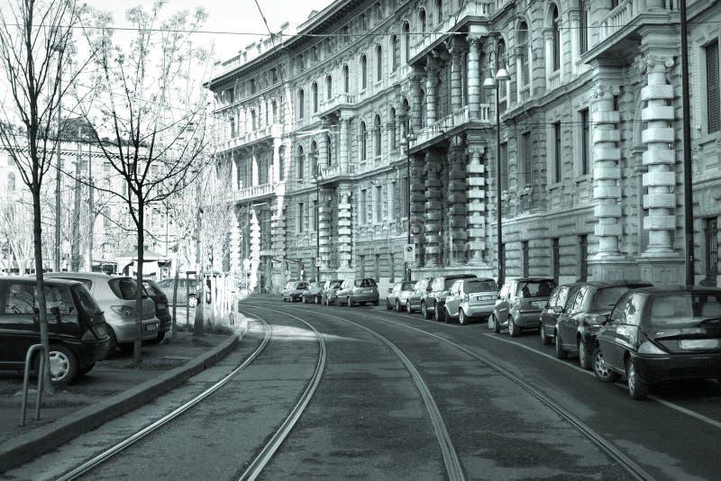 Route de longeron à Milan photographie stock