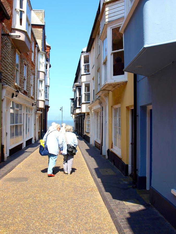 Route de maritime, Cromer, Norfolk photos stock