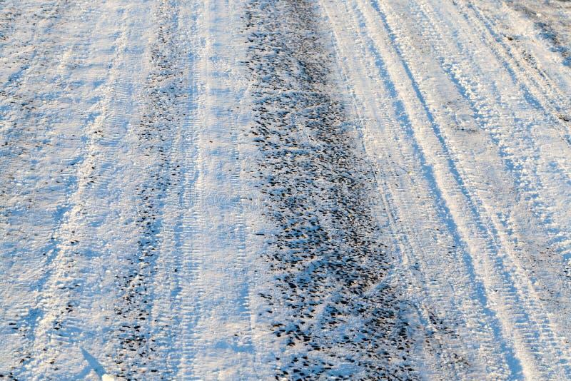 Route de Milou, hiver photo libre de droits