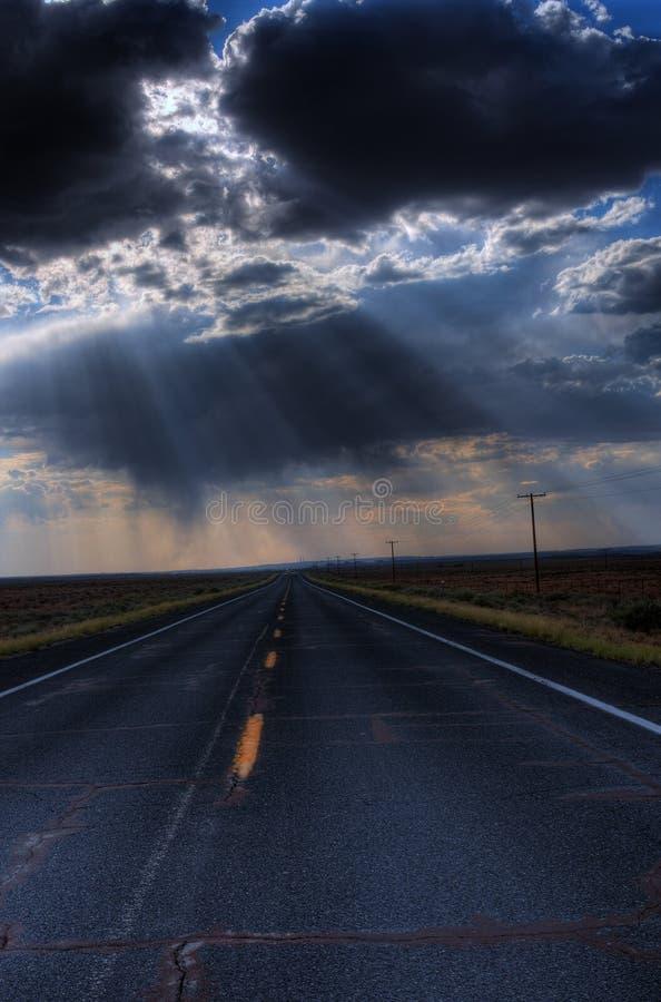 route de montagne de désert photo libre de droits