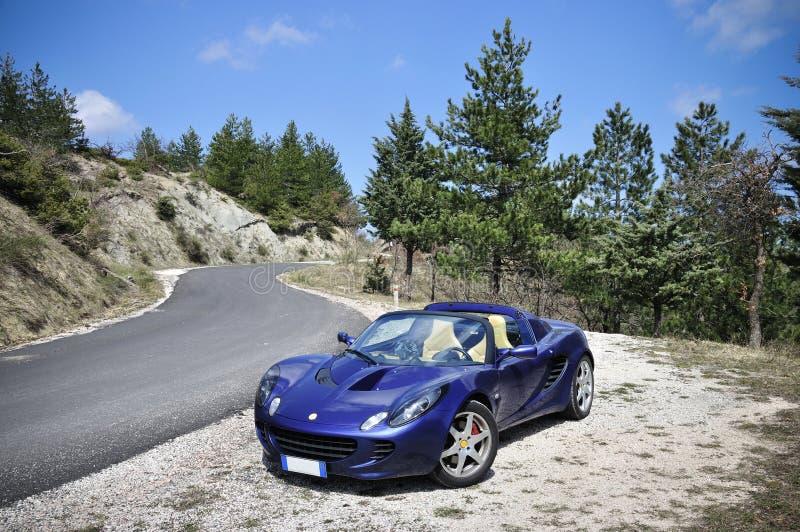 Route de montagne de Lotus Elise photos stock