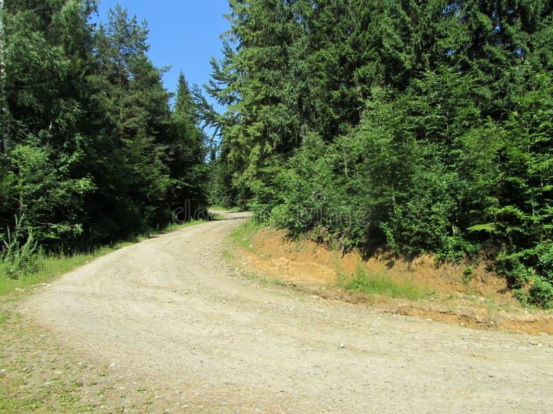 Route de montagne de macadam photos stock