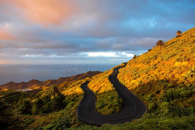 Route de montagne de Serpantine photographie stock libre de droits