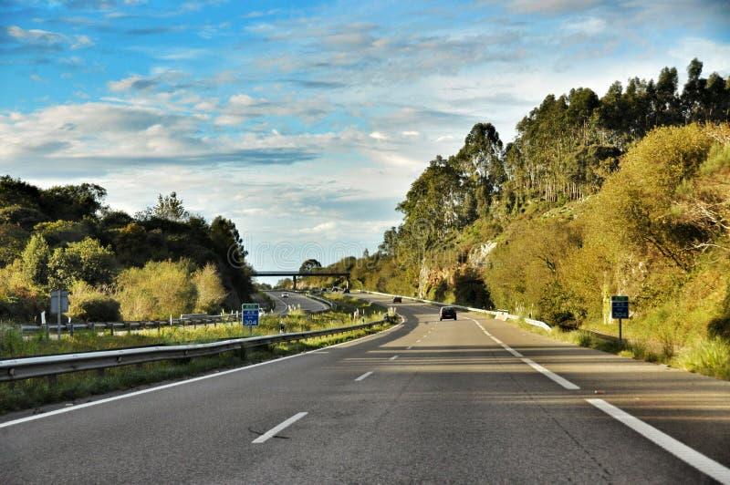 Route de montagne en Espagne images libres de droits