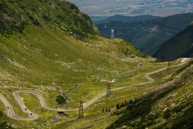 Route de montagne de Transfagarasan, Roumain Carpathiens photographie stock libre de droits