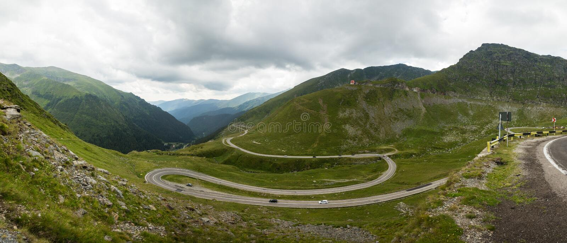 Route de montagne de Transfagarasan, Roumain Carpathiens images stock