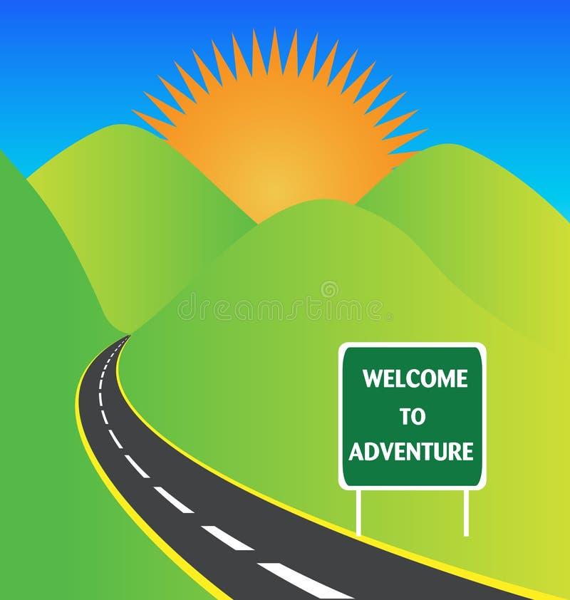 Route de montagnes illustration libre de droits