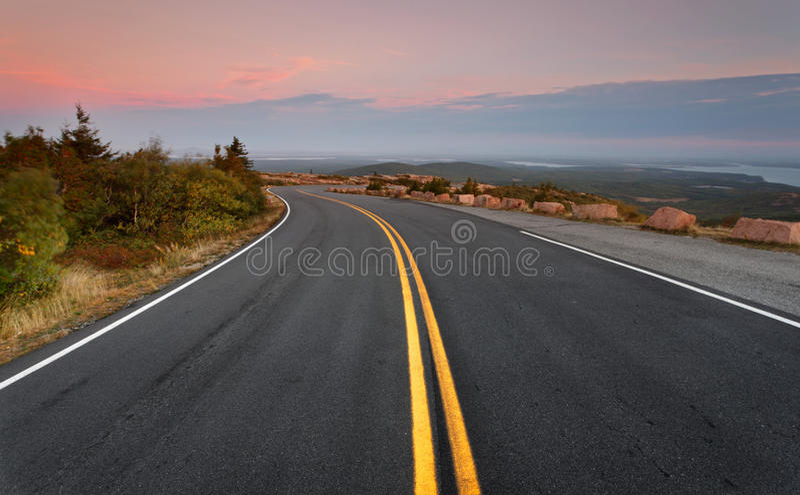 Route de montagnes de Cadillac images stock
