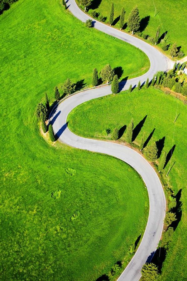 Route de Montichiello Sienne image libre de droits